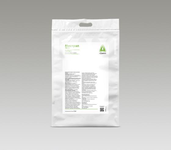 МИСТРАЛ 70, ВДГ - высокоэффективный до - и послевсходовый гербицид для защиты озимых зерновых культур, гороха и картофеля от однолетних двудольных и злаковых сорняков.