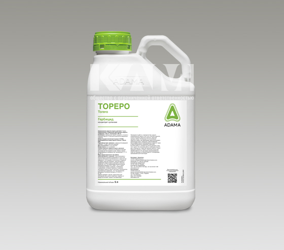 ТОРЕРО 500, КС - высокоэффективный почвенный и послевсходовый гербицид для защиты свеклы против однолетних двудольных и некоторых злаковых сорняков.